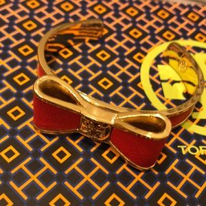 Nwot Tory Burch red bow cuff